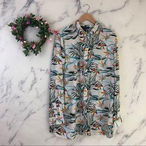 Chadwick's Tropical Button Down Shirt